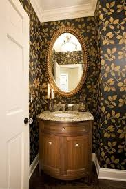 powder room decor with candles and wallpaper powder room decor