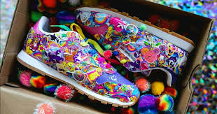 every 90s kid is lining up for lisa frank reebok shoes