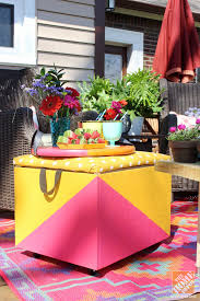 Ottoman Cooler Diy Ideas For A Loud Laid Back Patio Makeover The Home Depot