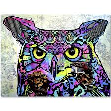 wise night owl eyes dean russo metal sign pet decor