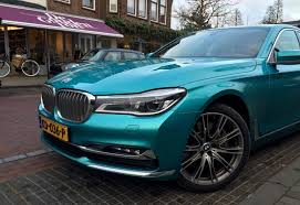 bmw 7 series gets the individual treatment with turquoise paint