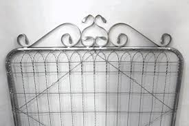 3 t by 4 w woven fence gate ornamental wire vintage look