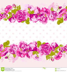 Invitation Card Border Design Seamless Border Of Blossom Roses Stock Vector Image 41586604