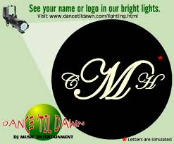 Wedding Gobo Templates See Your Name In Lights Dance U0027til Dawn Dj Offers Gobo Design