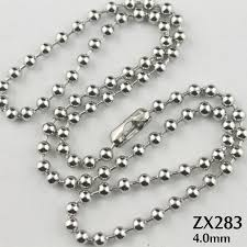 stainless necklace chain images 200pcs 16 38 quot length 4mm ball chain stainless steel necklace beads jpg