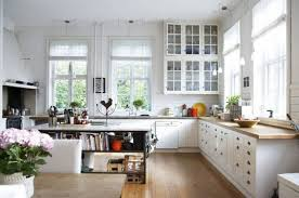 artsy cottage kitchen with open plan scheme also kitchen island