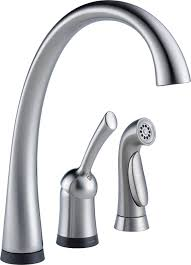 delta faucet 4380t ar dst pilar single handle kitchen faucet with