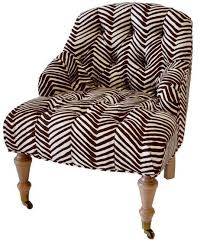 Zebra Accent Chair Zebra Tufted Accent Chair Scenario Home