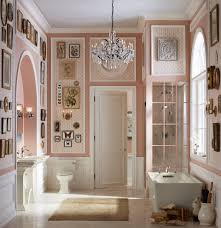 Powder Room Vanities Contemporary Magenta Walls Powder Room Contemporary With Vanity White Vessel Sinks