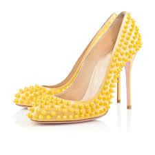 designer stiletto heels designer yellow studded pumps stiletto heels sexyshoeswoman