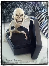 posable halloween skeleton house of dewberry handmade halloween skeleton coffin