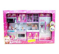 modren barbie kitchen sets set house furniture pink refrigerator