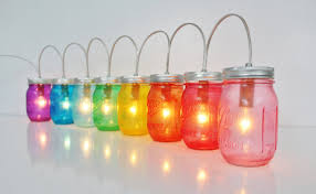 rainbow mason jar party lights string of mason jar lights