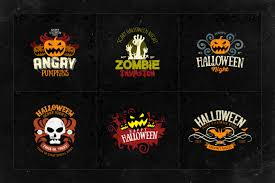 adobe photoshop halloween background templates happy halloween logo templates by easybrandz thehungryjpeg com