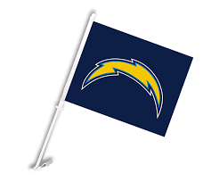 San Diego Chargers Flag Amazon Com Nfl Los Angeles Chargers Car Flag Outdoor Banners