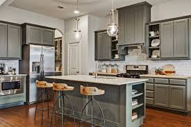 parks of aledo model home kitchen pewter green kitchen cabinetry