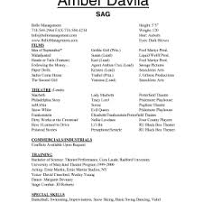 Beginner Resume Templates Acting Cv Beginner Acting Resume Example Template Resume Cover Letter