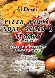cuisine promotion al dente promotion picture of al dente malaysian cuisine