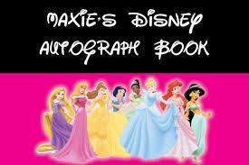 custom disney princess autograph book cover 2 by themommymermaid