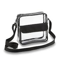 Brown Bags With Clear Window Amazon Com Clear Cross Body Messenger Shoulder Bag W Adjustable