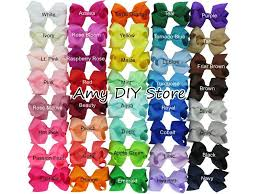 cheap hair bows 3 3 3 5 ribbon bows with clip solid color bows clip baby hair