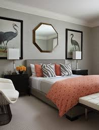 coral bedroom ideas serene coral combinations mint grey cream