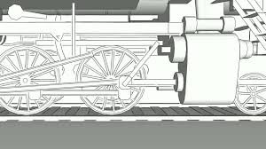close up of old steam engine locomotive train with freight