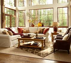 pottery barn style living room traditional with floor lamp themed