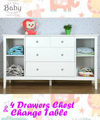 Drawer Change Table Chest Of Drawers 4 With Change Table Wholesales Direct