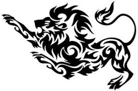 nr193 tribal tattoo tiger lion panther decal vinyl sticker window