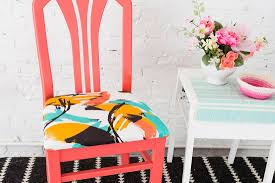 How To Upholster Dining Room Chairs Use Cotton Fabric To Reupholster Your Dining Room Chairs Brit Co