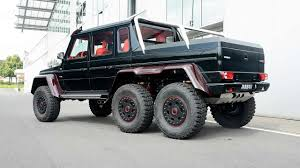 mercedes 6x6 brabus makes mercedes benz g63 amg 6x6 even more outlandish with