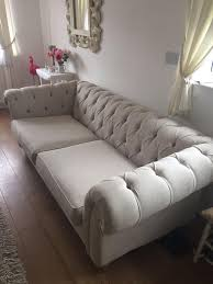 Chesterfield Style Sofa by Next Gosford Chesterfield Style Light Grey Sofa In Askern South