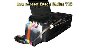 reset printer epson t13 t22e reset epson t13 waste ink pad counter youtube