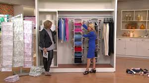 closet organizer with side shoe pockets by lori greiner with