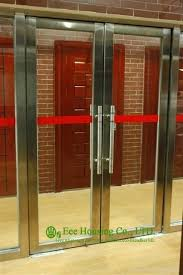 Exterior Steel Doors And Frames Flush Stainless Steel Doors And Frames With Glass Lites Custom
