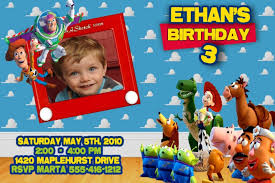 Personalized Birthday Invitation Cards Kids Birthday Invitations Toy Story Templates Birthday Invitations