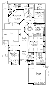 courtyard pool house plans homes zone