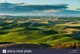 scenic rolling hills in the palouse scenic byway located in the