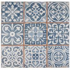 merola tile faenza azul 13 in x 13 in ceramic floor and wall