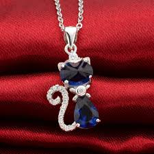 blue sterling silver necklace images 925 sterling silver blue teardrop cubic zircon pendant necklace jpg
