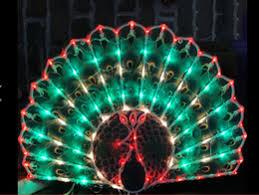 peacock lights decoration peacock