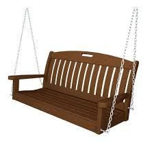 polywood nautical 48 in black patio swing ns48bl the home depot