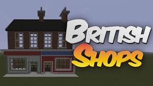 british terraced shop front in minecraft designing with redpower