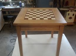 custom maple and walnut chess board by wooden it be nice