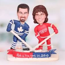 hockey cake toppers detroit wings wedding cake topper hockey themed