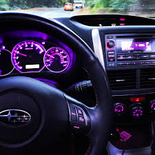 subaru wrx custom interior lux technologies custom interior light mods for chrysler dodge