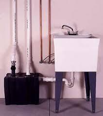 utility sink drain pump installing a basement laundry sink