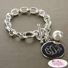 monogram bracelet silver sterling silver monogram bracelet anklet monogram bracelet
