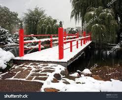 bridge japanese garden near normandale college stock photo